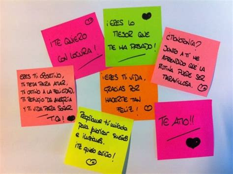 ideas romanticas con post it   Buscar con Google | Post it ...