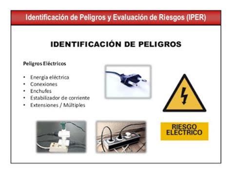 Identificación de riesgos eléctricos, trabajo seguro y ...