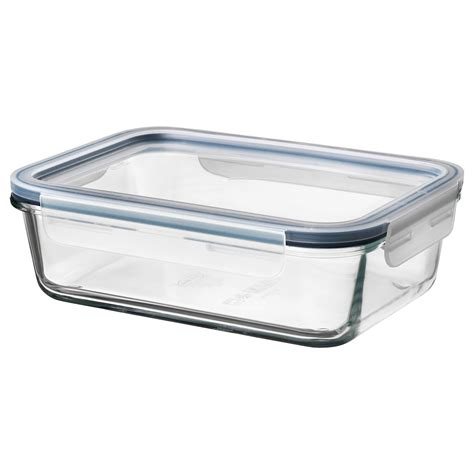 IKEA 365+ Food container with lid, rectangular glass ...