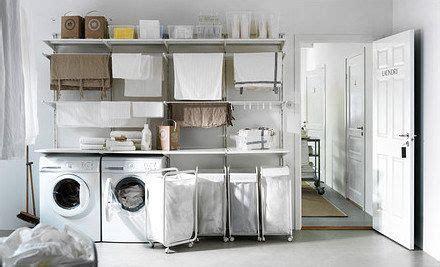 Ikea Algot Laundry Room Pequenas Habitaciones De Lavadero