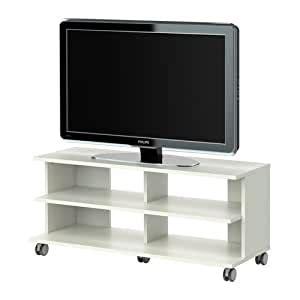 IKEA BENNO   Mueble TV con ruedas, blanco   118x42x51 cm ...