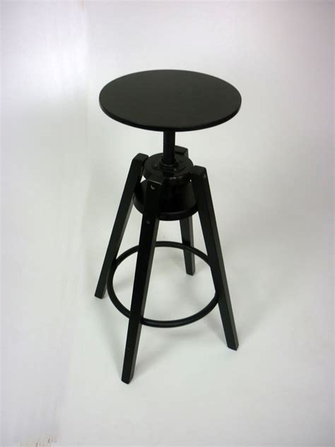 Ikea black wood spinning stool | Recycled Business Furniture
