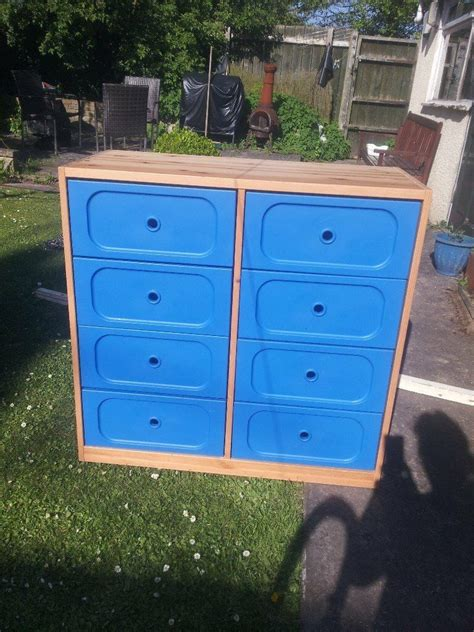 IKEA children s large chest of 8 drawers Blue and solid ...