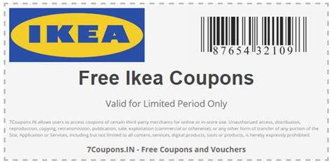 Ikea Coupons and Offers for December 2019 | 7Coupons.IN