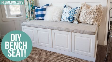 IKEA HACK | How to Build a Bench from Kitchen Cabinets ...