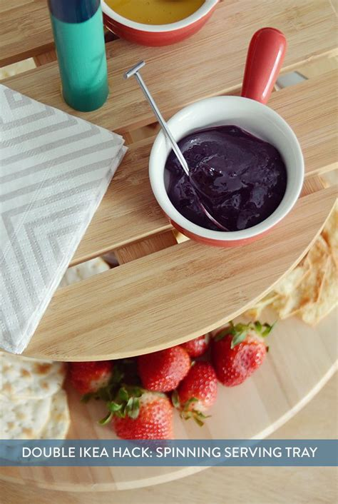 IKEA Hack: Make a Spinning Tiered Serving Tray | Tiered ...
