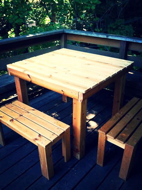 Ikea Hack: Turning a Bed Frame Into a Table & Benches ...