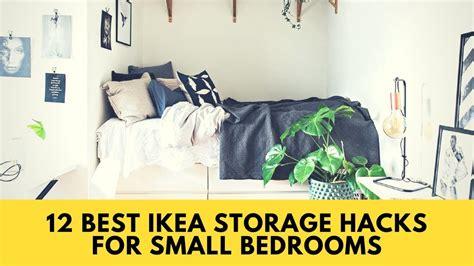 IKEA HACKS! 12 Best IKEA Storage Hacks for Small Bedrooms ...