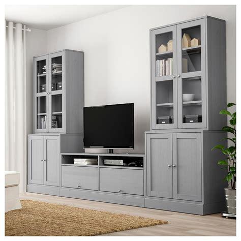 IKEA HAVSTA Dark Brown TV storage combination/glass doors ...