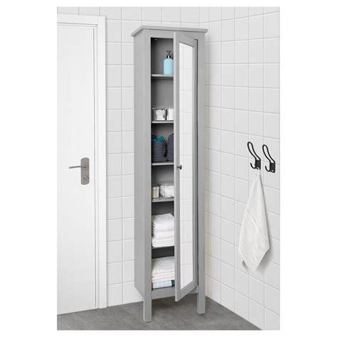 IKEA   HEMNES High cabinet with mirror door gray | Mirror ...
