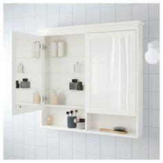 IKEA   HEMNES Mirror cabinet with 2 doors white | Espejos ...