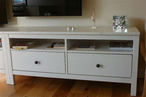Ikea Hemnes TV stand / sideboard in white   Two   in ...