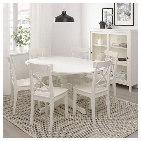 IKEA INGATORP White Extendable table | Small kitchen ...