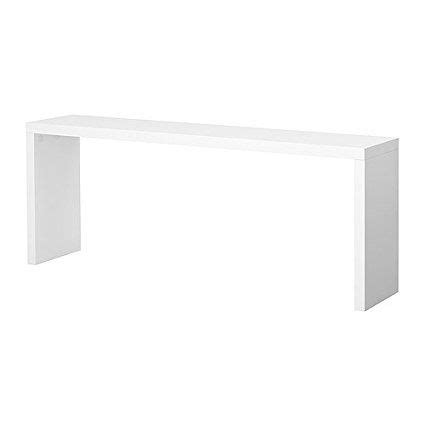 IKEA MALM   Mesa auxiliar, blanco   191x74 cm | Mesitas ...