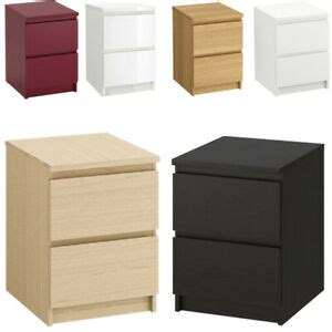 IKEA MALM Wooden 2 Drawer Chest Bedroom Bedside Table ...