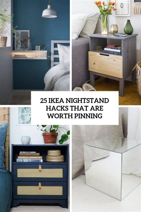 ikea nighstand hacks that are worth pinning cover | Ikea ...