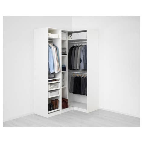 IKEA   PAX white Corner wardrobe Frame colour: white ...