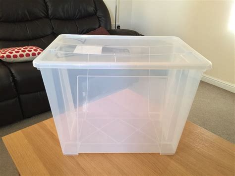 IKEA plastic storage boxes with lid, excellent condition ...
