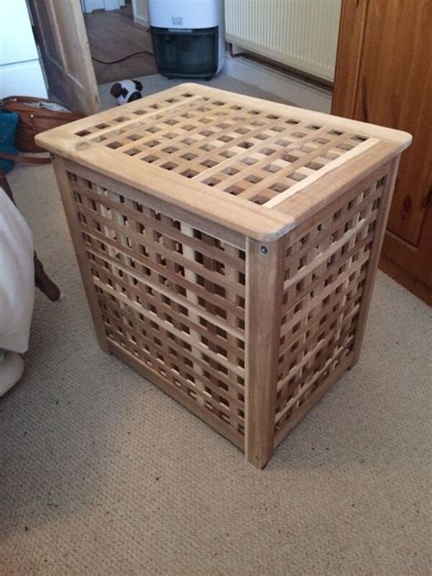 Ikea Skoghall Small Wooden Storage Box for sale   48 x 36 ...