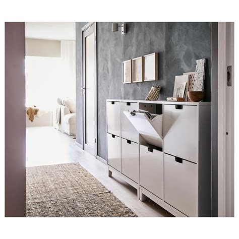 IKEA STALL Shoe cabinet with 4 doors, white