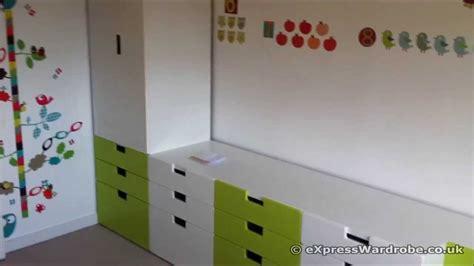 IKEA Stuva Childrens Wardrobe Green and White.   YouTube
