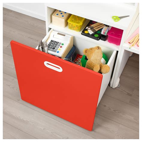 IKEA   STUVA / FRITIDS Table with toy storage white/red ...