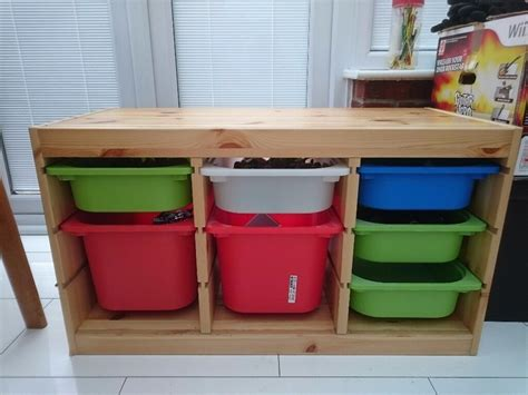 IKEA Trofast storage unit with plastic storage boxes | in ...