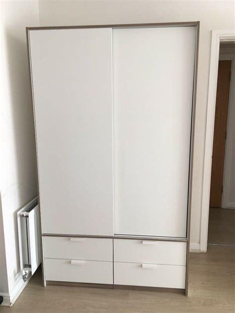 Ikea TRYSIL Wardrobe w sliding doors/4 drawers | in ...