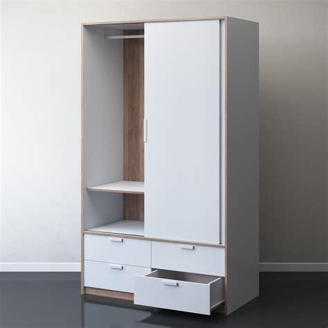 IKEA TRYSIL Wardrobe With Sliding Doors   3D Model for VRay