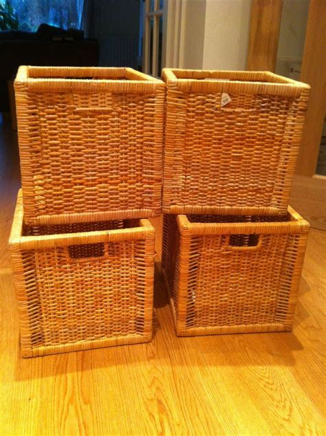 IKEA wicker BRANAS storage boxes suitable for Expedit or ...