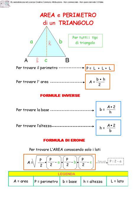 Il triangolo: area, perimetro e formula di Erone ...
