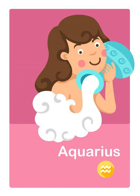 Illustration du vecteur aquarius isolé. signes du zodiaque ...