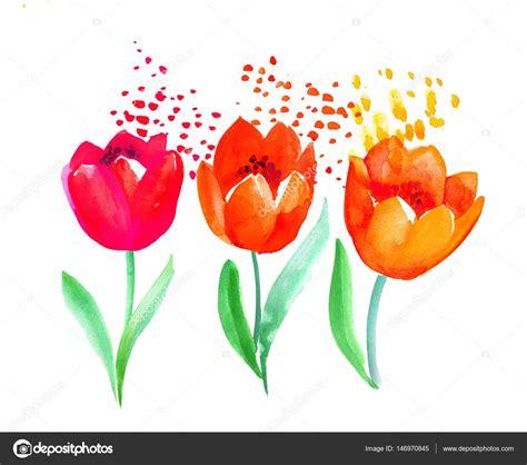 Illustration florale de printemps dessinée à la main pour ...