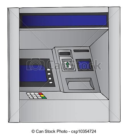 Illustration of an atm, cash machine.
