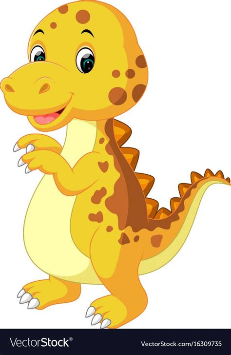 illustration of Cute baby dinosaur cartoon. Download a ...