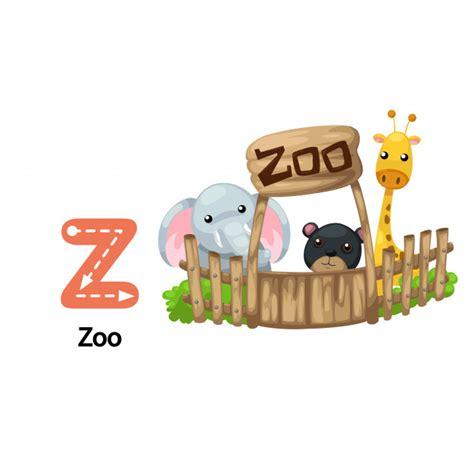 Ilustração isolada alfabeto letra z zoo   Vetor Premium