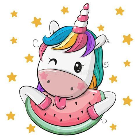 Ilustración acerca Unicornio lindo de la historieta con la ...