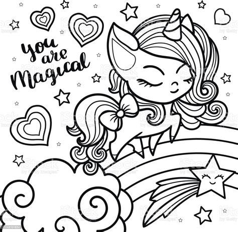 Ilustración de Boceto De Un Unicornio Para Colorear Sobre ...
