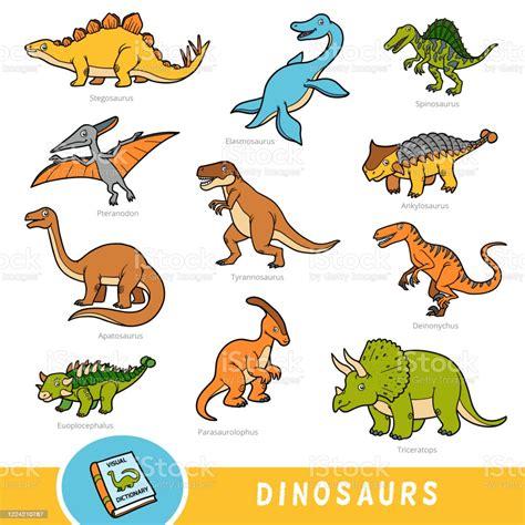 Ilustración de Conjunto De Dinosaurios Colección De ...