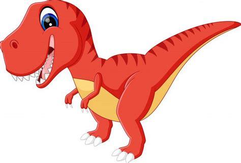 Ilustración de dibujos animados cute dinosurs Vector ...