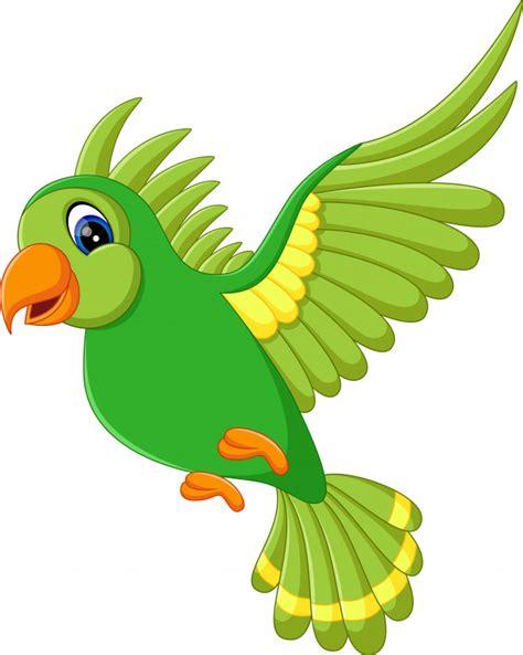 Ilustración de lindos pájaros volando   Vector Premium