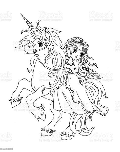 Ilustración de Página Para Colorear De La Princesa Sobre ...