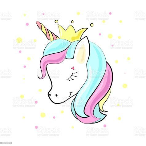 Ilustración de Unicornio Bebé Cute Dibujos Animados Estilo ...