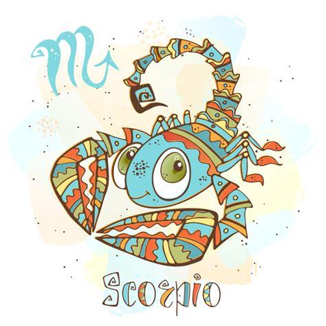Ilustración del horóscopo infantil. zodiaco para niños ...