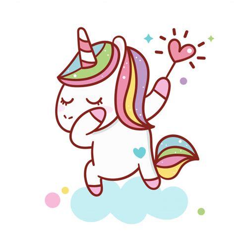 Ilustrador de dibujos animados de unicornio | Vector Premium