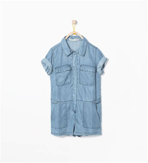 Image 1 of Denim jumpsuit from Zara | Denim jumpsuit, Kids ...