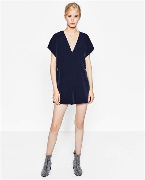 Image 1 of SHORT V NECK JUMPSUIT from Zara | Fashion ...