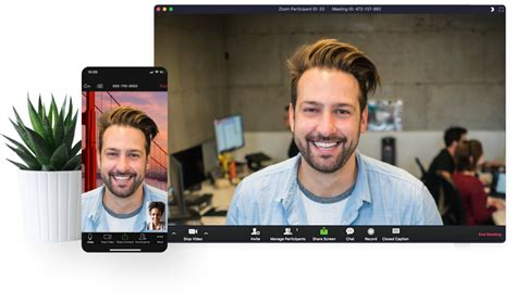 Image of person using Zoom across multiple platforms