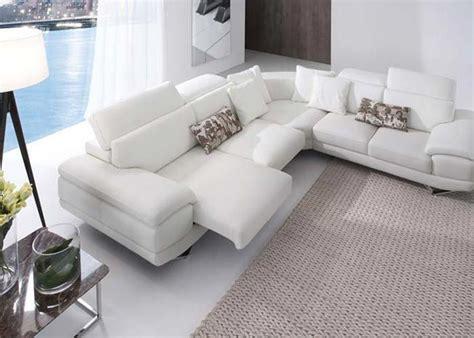 Image result for sofa esquinero piel blanca   Sofás ...
