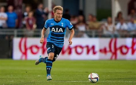 Image  Tottenham star Christian Eriksen poses with hot WAG